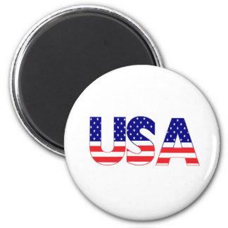 USA flag postage Magnet