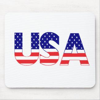 USA flag postage Mouse Pads