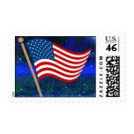 USA Flag Postage Stamp