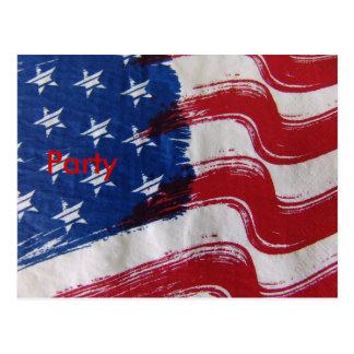 USA Flag Postcard