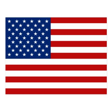 USA Themed USA Flag Postcard