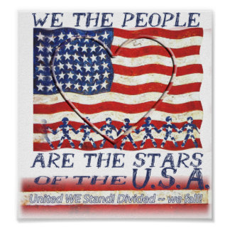 USA FLAG - POSTER - WE THE PEOPLE ARE THE STARS
