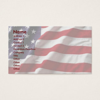 USA Flag Profile Card