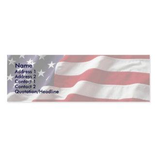 USA Flag Profile Card Business Cards