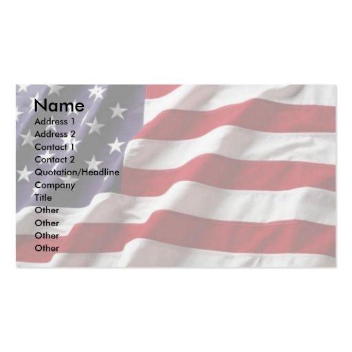 Flags business card templates bizcardstudiocom for Patriotic business card template