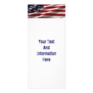 USA Flag Rack Card