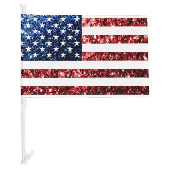 USA flag Red and Blue sparkles