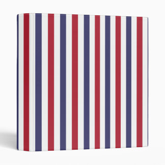 USA Flag Red and Flag Blue Narrow Thin Stripes Binders