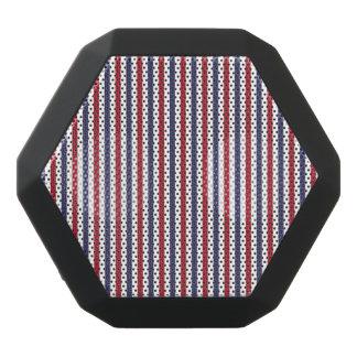 USA Flag Red and Flag Blue Narrow Thin Stripes Black Bluetooth Speaker