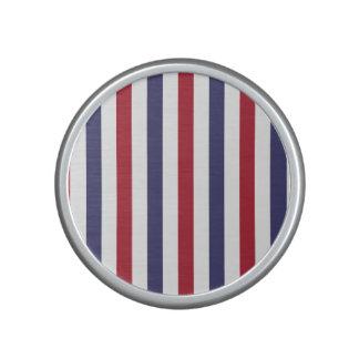 USA Flag Red and Flag Blue Narrow Thin Stripes Bluetooth Speaker