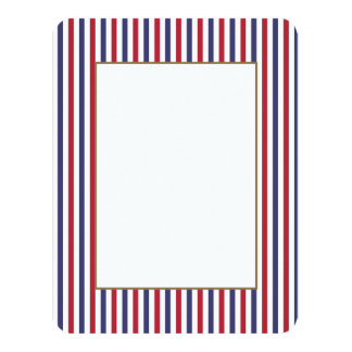 USA Flag Red and Flag Blue Narrow Thin Stripes Card