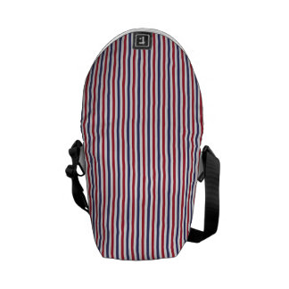USA Flag Red and Flag Blue Narrow Thin Stripes Courier Bags