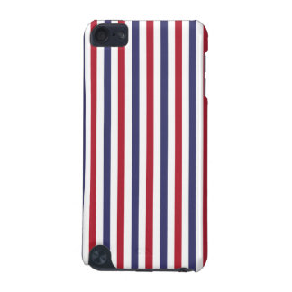 USA Flag Red and Flag Blue Narrow Thin Stripes iPod Touch (5th Generation) Case