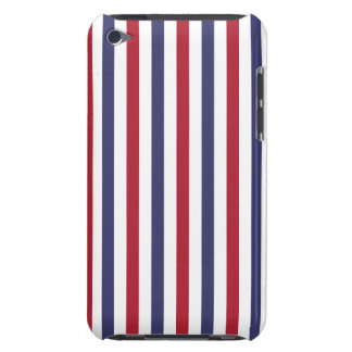 USA Flag Red and Flag Blue Narrow Thin Stripes iPod Touch Case