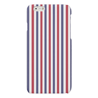 USA Flag Red and Flag Blue Narrow Thin Stripes Matte iPhone 6 Case
