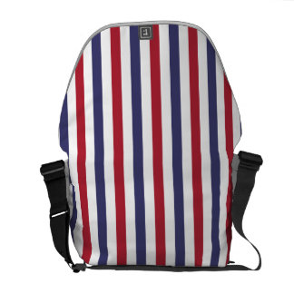 USA Flag Red and Flag Blue Narrow Thin Stripes Messenger Bags