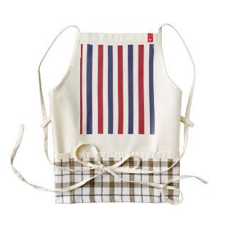 USA Flag Red and Flag Blue Narrow Thin Stripes Zazzle HEART Apron
