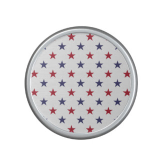 USA Flag Red and Flag Blue Stars Bluetooth Speaker