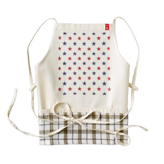 USA Flag Red and Flag Blue Stars Zazzle HEART Apron