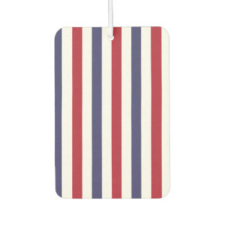 USA Flag Red and Flag Blue Wide Stripes on White