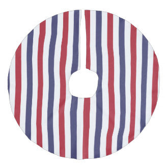 Red White And Blue Christmas Tree Skirts   Zazzle