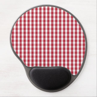 USA Flag Red and White Gingham Checked Gel Mouse Pad