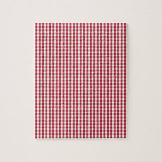 USA Flag Red and White Gingham Checked Jigsaw Puzzle