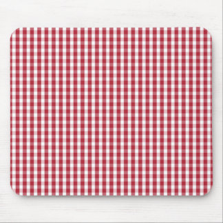 USA Flag Red and White Gingham Checked Mouse Pad