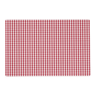 USA Flag Red and White Gingham Checked Placemat