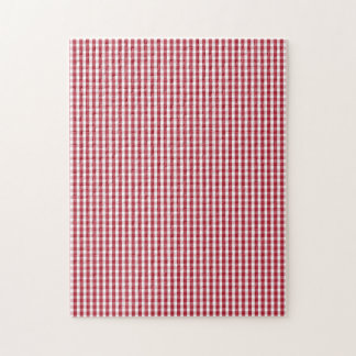USA Flag Red and White Gingham Checked Puzzle
