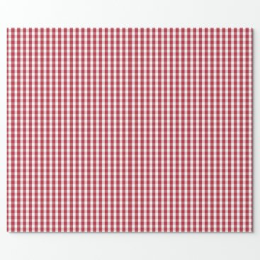 USA Themed USA Flag Red and White Gingham Checked Wrapping Paper