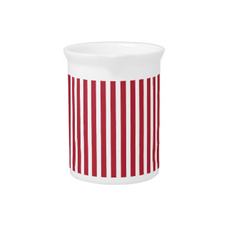 USA Flag Red and White Stripes Pitcher