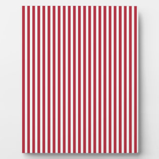 USA Flag Red and White Stripes Plaque
