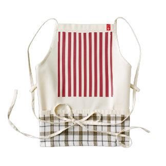 USA Flag Red and White Stripes Zazzle HEART Apron