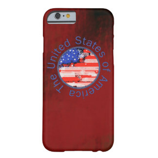 USA flag ~ red background Barely There iPhone 6 Case