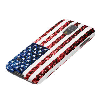 USA flag red & blue sparkles glitters Galaxy S5 Case