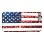 USA flag red & blue sparkles iPhone 6 case