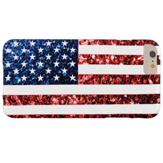 USA flag red & blue sparkles iPhone 6 Plus case