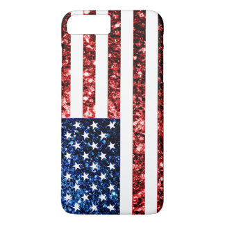 USA flag red & blue sparkles iPhone 7 Plus case