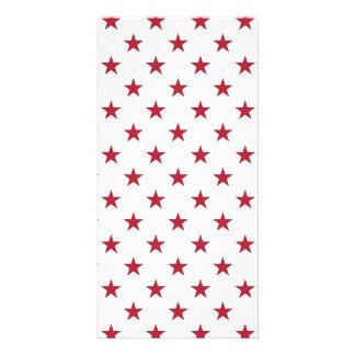 USA Flag Red Stars on White Throw Pillows Card