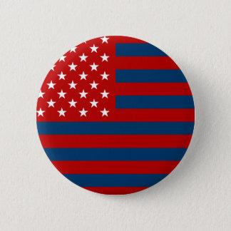 USA Flag - Red Stencil Button