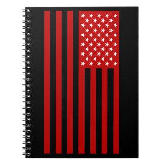 USA Flag - Red Stencil Notebook