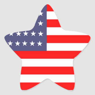 usa flag red white and blue star sticker