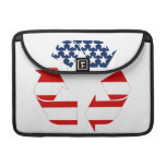 USA Flag - Red White & Blue Recycle Symbol MacBook Pro Sleeve