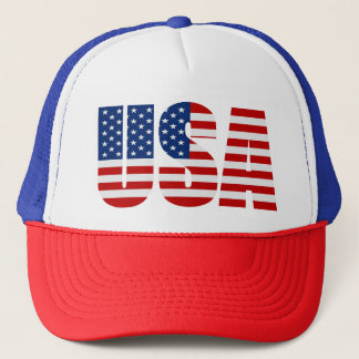 USA FLAG Red White & Blue Trucker Hat