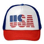USA FLAG Red White & Blue Trucker Hat