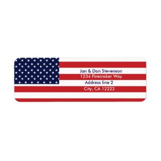 USA Flag Return address labels Stars & Stripes