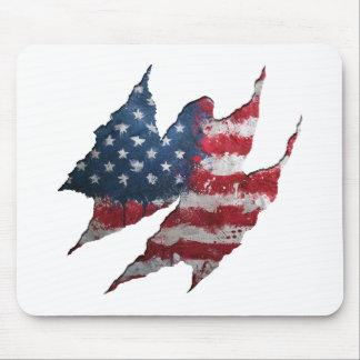 USA flag rip Mouse Pad