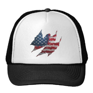 USA flag rip Trucker Hat