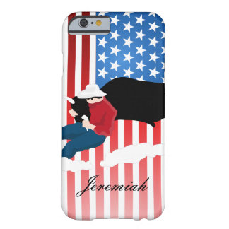 USA Flag Rodeo Cowboy Cattle Wrangler Barely There iPhone 6 Case